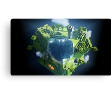 Minecraft Cube Canvas Print