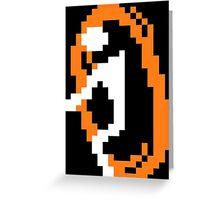 Orange Portal Greeting Card