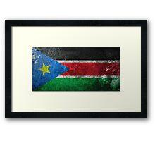 South Sudan Grunge Framed Print