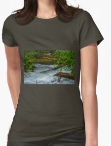 stream in the woods  Womens Fitted T-Shirt