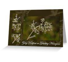Schoonheid van kristal - Kerst en Nieuwjaar Greeting Card