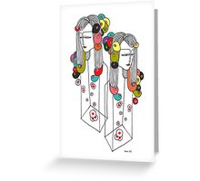 Sisters in a Bottle 2 Greeting Card