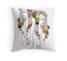 Sisters in a Bottle 2 Throw Pillow