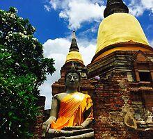 Wat Yai Chaimongkon Thailand by Ren Provo