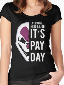 PAYDAY HOXTON REBORN : WHITE Women's Fitted Scoop T-Shirt