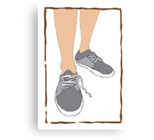 Mens walking sand shoes Canvas Print
