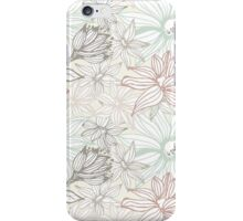 Elegant seamless pattern with flowers iPhone Case/Skin