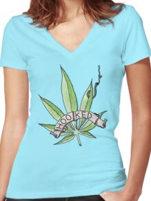 Hooked Women's Fitted V-Neck T-Shirt