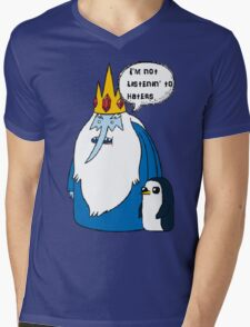 iceking Mens V-Neck T-Shirt