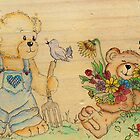 Garden Teddies by Pam Amos