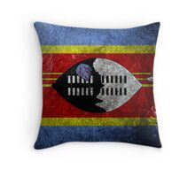 Swaziland Grunge Throw Pillow