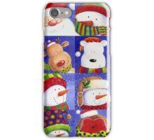 Cute Christmas gang - Santa, Snowman, Penguin, Polar Bear iPhone Case/Skin