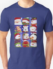 Cute Christmas gang - Santa, Snowman, Penguin, Polar Bear T-Shirt