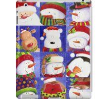 Cute Christmas gang - Santa, Snowman, Penguin, Polar Bear iPad Case/Skin