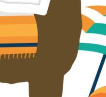 Alpaca Towel Sticker