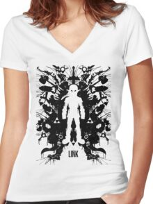 Link Women's Fitted V-Neck T-Shirt