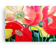 Exuberance -bright floral artwork Canvas Print