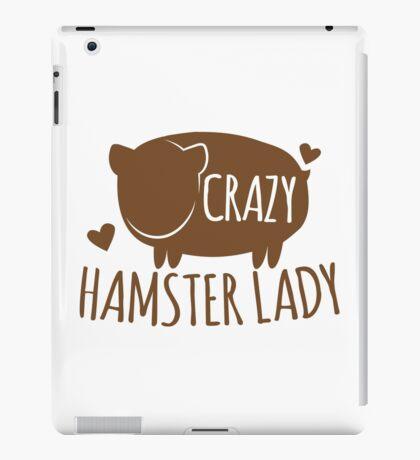 Crazy Hamster lady iPad Case/Skin
