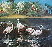 Flamingo bay by WILT
