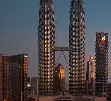 petronas towers at dawn by shaun965