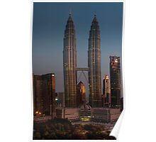 petronas towers at dawn Poster