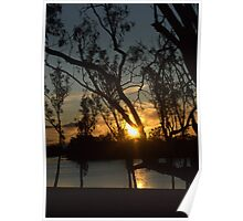Sunset on the river at Loxton Poster