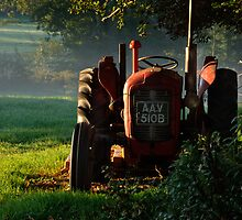 Tractor in the morning light by Christopher Cullen