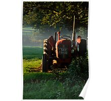 Tractor in the morning light Poster