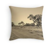 Leaving the Campsite, Bourke Throw Pillow