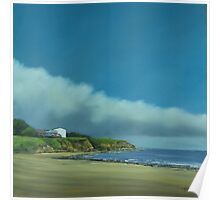 Blue skies and sandy beaches Poster