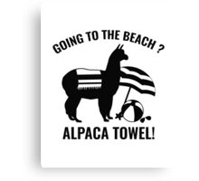 Alpaca Towel Canvas Print