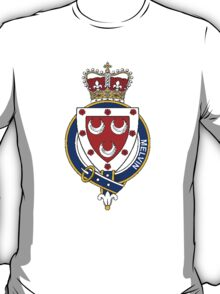 Coat of arms (family crest) for last-name or surname Melvin or Melville (Scotland) . Heraldry banner for your name. T-Shirt