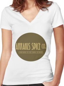 Dune - Arrakis Spice co. (version 2) Women's Fitted V-Neck T-Shirt