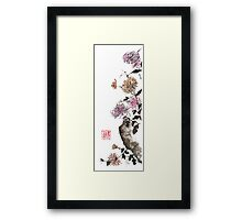 Touch of color sumi-e painting Framed Print