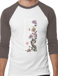Touch of color sumi-e painting Men's Baseball ¾ T-Shirt