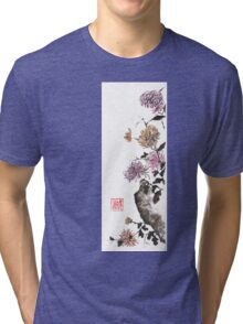 Touch of color sumi-e painting Tri-blend T-Shirt