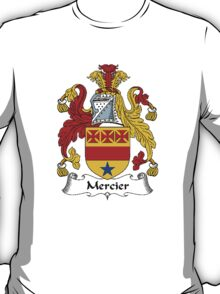 Coat of arms (family crest) for last-name or surname Mercier . Heraldry banner for your name. T-Shirt