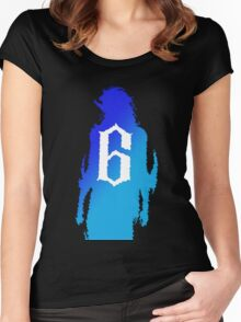 Grimmjow Blue Gradient Women's Fitted Scoop T-Shirt