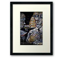 BLAK lock Framed Print