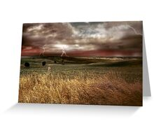 Storm Rising - Kanmantoo, The Adelaide Hills, South Australia Greeting Card