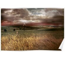 Storm Rising - Kanmantoo, The Adelaide Hills, South Australia Poster