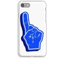 blue Fanfinger iPhone Case/Skin