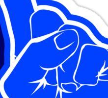blue Fanfinger Sticker