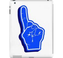 blue Fanfinger iPad Case/Skin