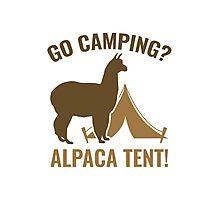 Alpaca Tent Photographic Print