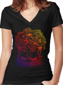 Rajasthani turban Women's Fitted V-Neck T-Shirt