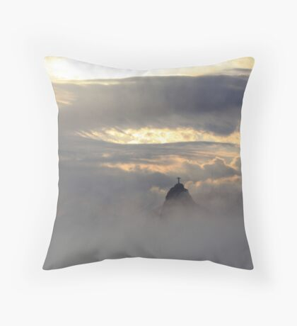 Christ in the Clouds Throw Pillow
