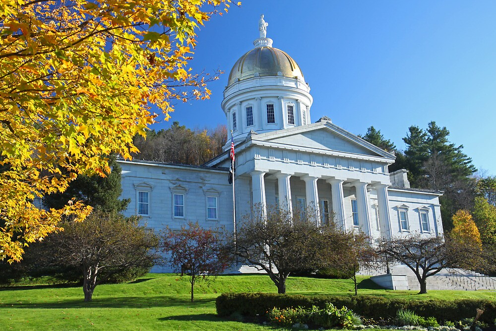 Vermont State House in Montpelier by Paul Harrison