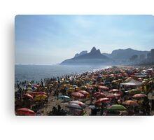 Beach of Umbrellas Canvas Print
