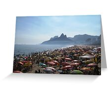 Beach of Umbrellas Greeting Card